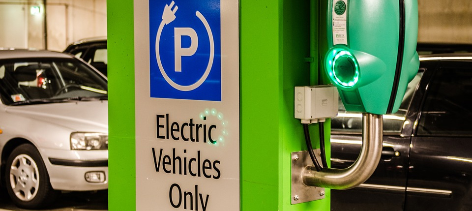 business car park electric vehicle charging