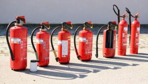 different types of fire extinguisher